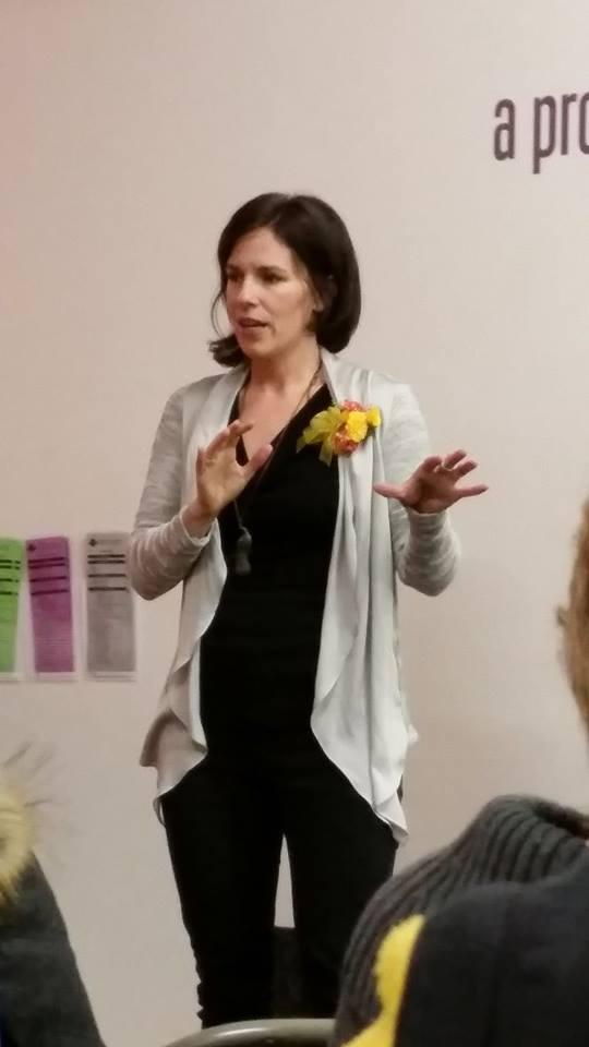 Jen speaking book launch